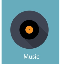 Music Flat Concept Icon vector image vector image