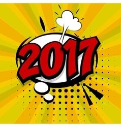 New year 2017 golden background vector