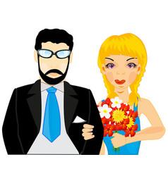 pair man and woman vector image vector image