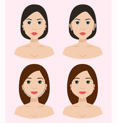 plastic surgery body parts woman correction vector image