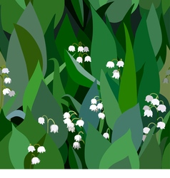 Seamless background from bunch of blossoming lilie vector image vector image
