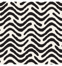 Seamless black and white hand painter wavy vector