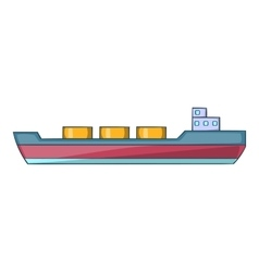 Ship carries cargo icon cartoon style vector image