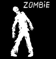 silhouette of a standing zombie concept vector image vector image