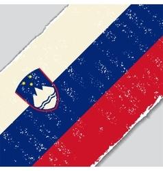 Slovenian grunge flag vector image vector image