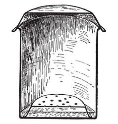 Sterilizing pail vintage vector