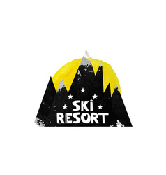The ski resort advertising adventures in the vector