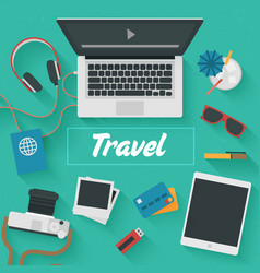Trendy flat design travel vector