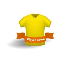 Yellow sports shirt icon cartoon style vector image