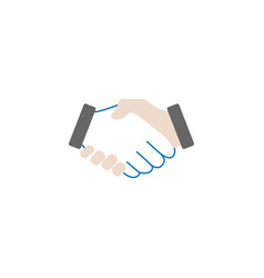Business handshake solid icon deal agreement vector