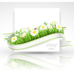 Spring banner vector
