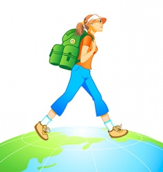 travel world vector image