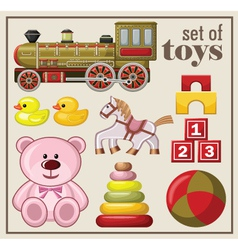 Set of vintage toys vector image
