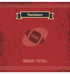 Football retro page vector