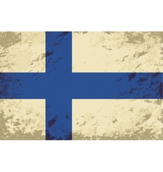 Finnish flag grunge background vector