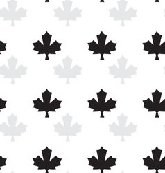 Seamless pattern with maple vector