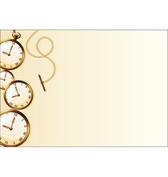 Brown wallpaper with retro watch design vector