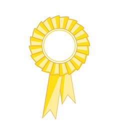 Yellow award ribbon vector