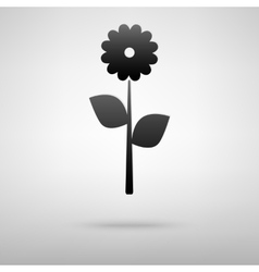 Flower black icon vector