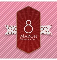International womens day red striped banner vector