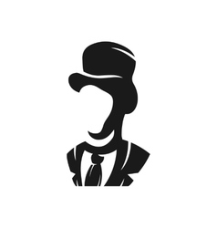 Aristocrat in a hat logo vector