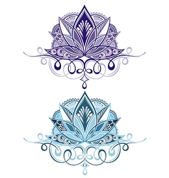 Flower emblems vector