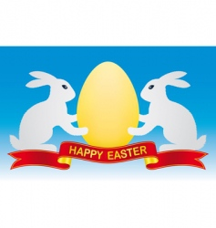 Easter bunny and egg vector