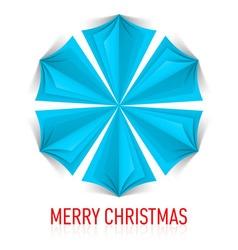 Snowflake Corner paper 23 vector image