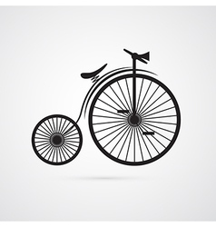 Abstract Old Vintage Bicycle Bike Isolated on vector image