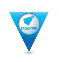 Badminton blue triangular map pointer vector