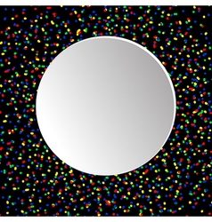 Black and white round vector