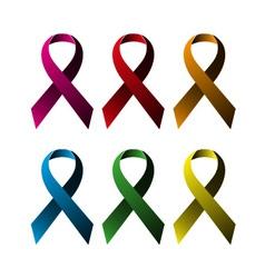 Breast ribbons set vector