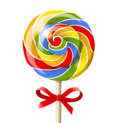 Bright lollipop vector