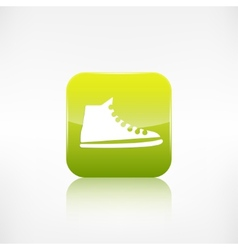 Casual keds gym shoes iconApplication button vector image