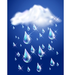 Clouds and rain vector image vector image