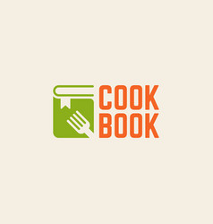 Cookbook isolated logo template vector