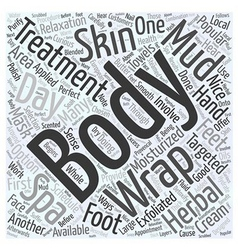 Day spas popular body treatments word cloud vector