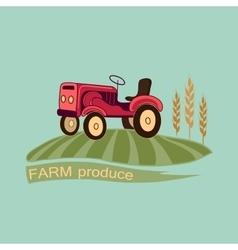 Farm logo and emblem vector image