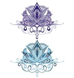 Flower emblems vector image