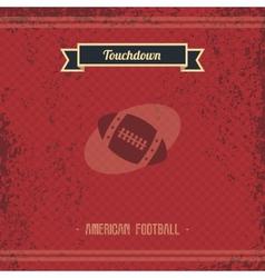 Football retro page vector