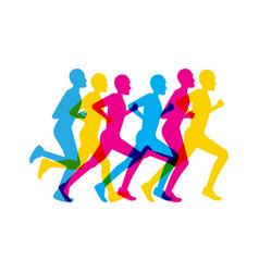 group men running vector image vector image