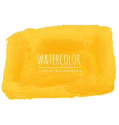 hand painted yellow watercolor texture background vector image vector image