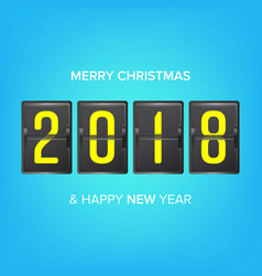 Happy new year 2018 merry christmas vector