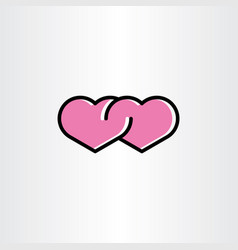 love icon heart symbol sign vector image
