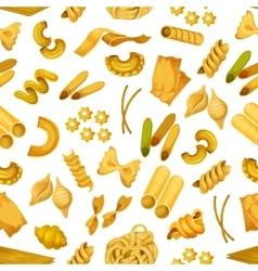 Macaroni or italian pasta seamless pattern vector