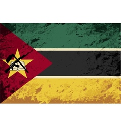 Mozambique flag grunge background vector