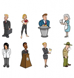 people professions vector image
