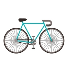 Retro bike icon vector