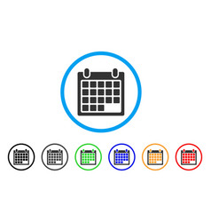 schedule calendar grid rounded icon vector image