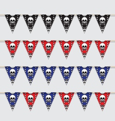 Skeleton bunting vector